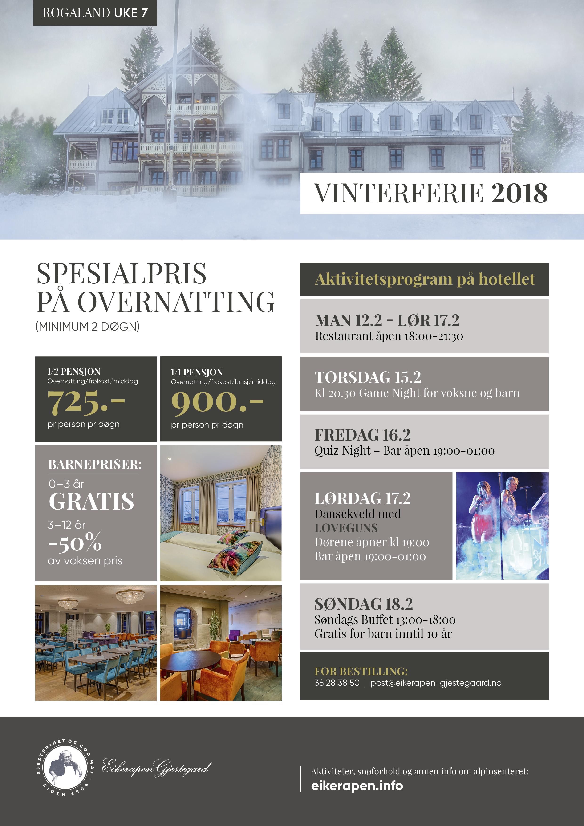 Vinterferie 2018 Rogaland
